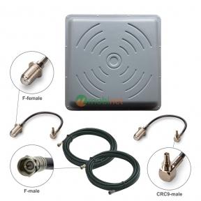 Антенний комплект 3G/4G LTE R-Net Квадрат Преміум 24 dBi MIMO 2x2 + кабель RG58 + перехідники CRC9