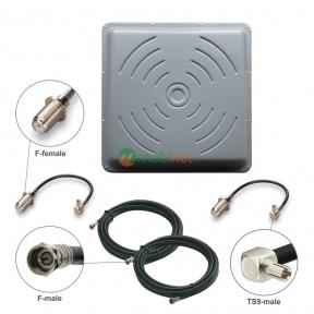 Антенний комплект 3G/4G LTE R-Net Квадрат Преміум 24 dBi MIMO 2x2 + кабель RG58 + перехідники TS9