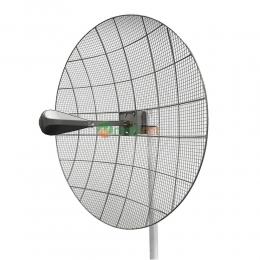 Параболическая 4G LTE MIMO антенна Kroks KNA30-1700/2700 усилением 30 dBi (1700-2700 МГц)