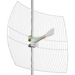 Параболическая 4G LTE MIMO антенна Kroks KNA27-1700/2700 усилением 27 dBi (1700-2700 МГц)